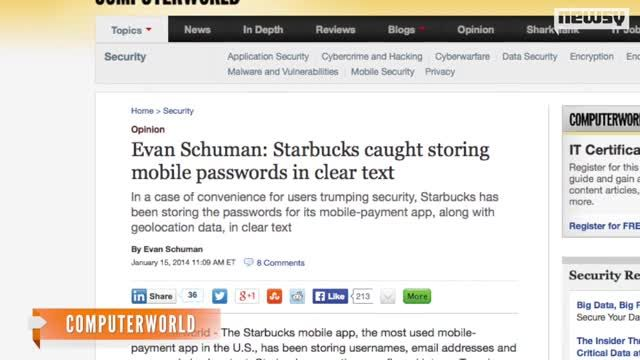 News video: Starbucks App Caught Storing User Credentials In Plain Text